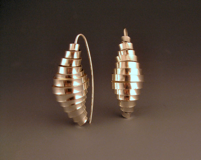 Cocoon Vertical Earrings